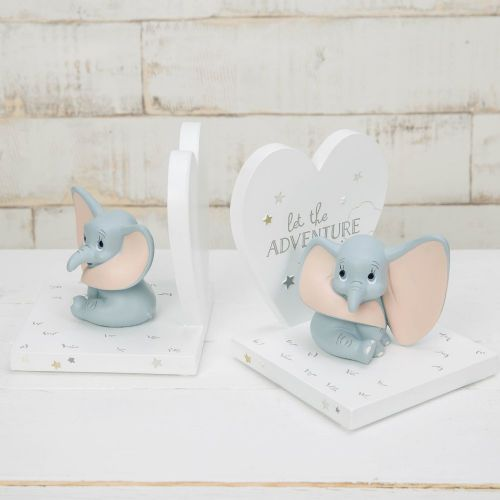 Disney Dumbo Bookends - Magical Beginnings Dumbo Bookends Nursery Decor Gift